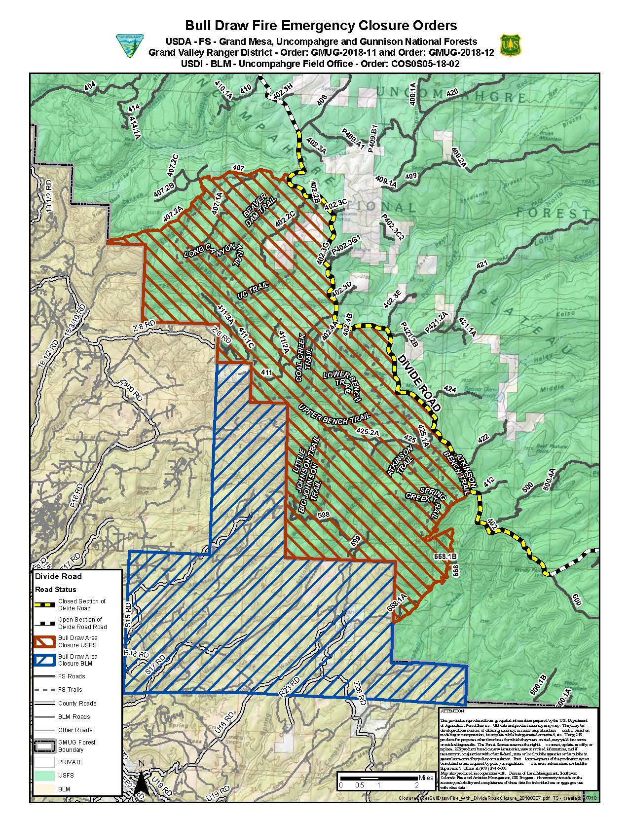 Bull Draw Fire Info And News West Slope Fire Info