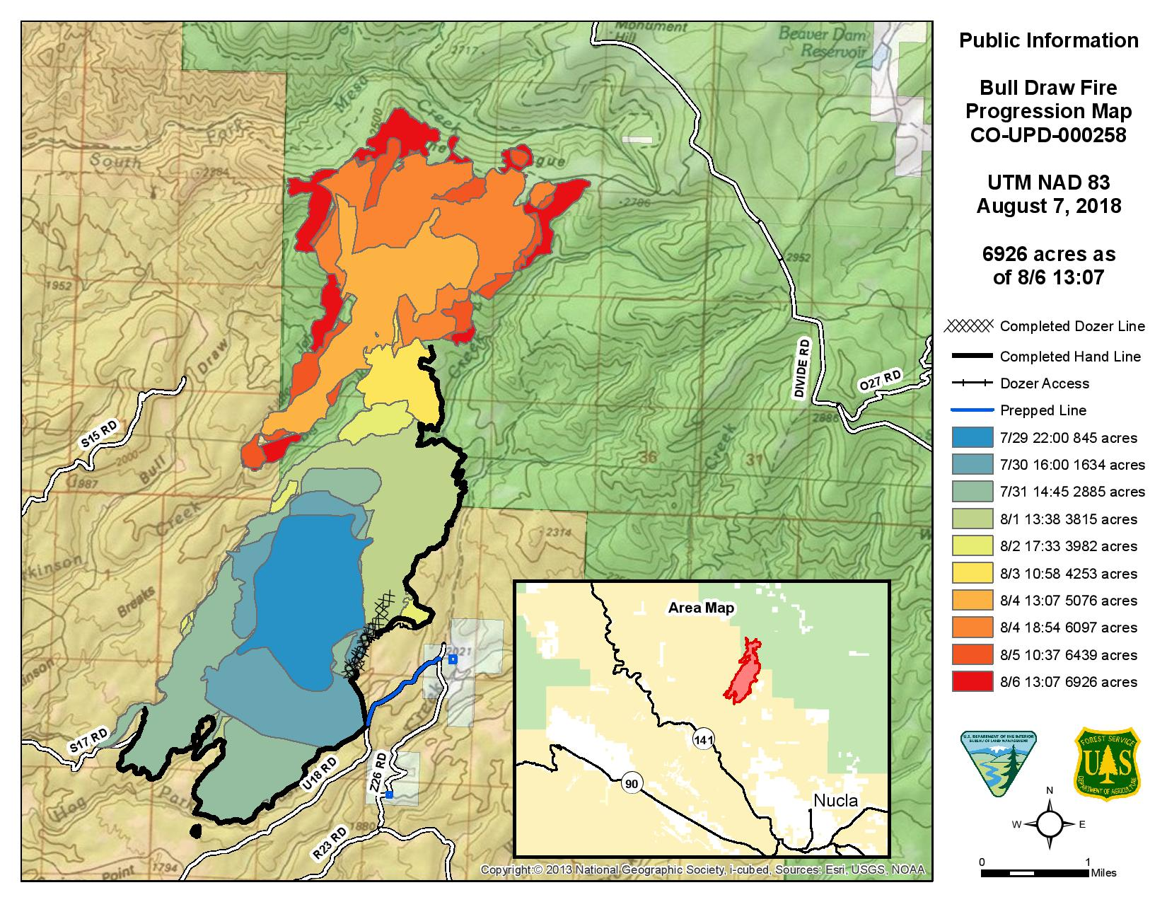 Bull Draw Fire Info and News | West Slope Fire Info Colorado Wildfire Map on