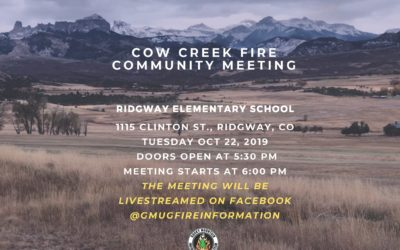 Cow Creek Fire Community Meeting