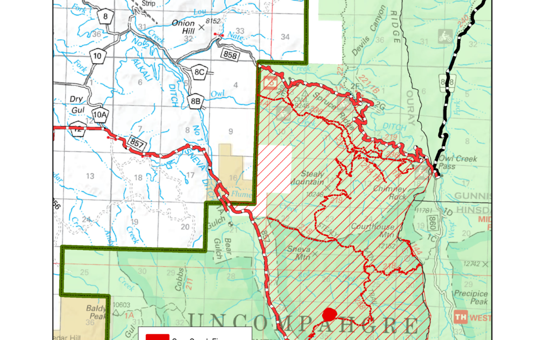 Cow Creek Fire Closure Order 10/16/19 8pm